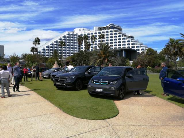 WA celebrates World EV Day with 65 electric vehicles visiting Crown Towers